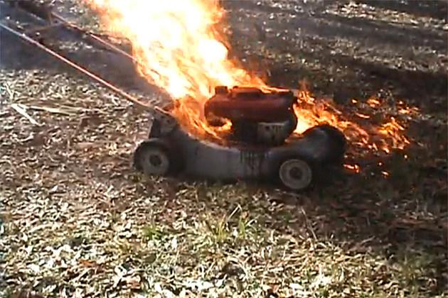 Lawn Mower on Fire
