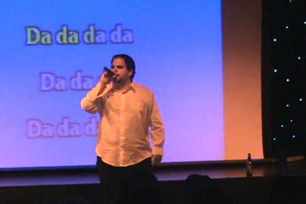Larry Singing Karaoke