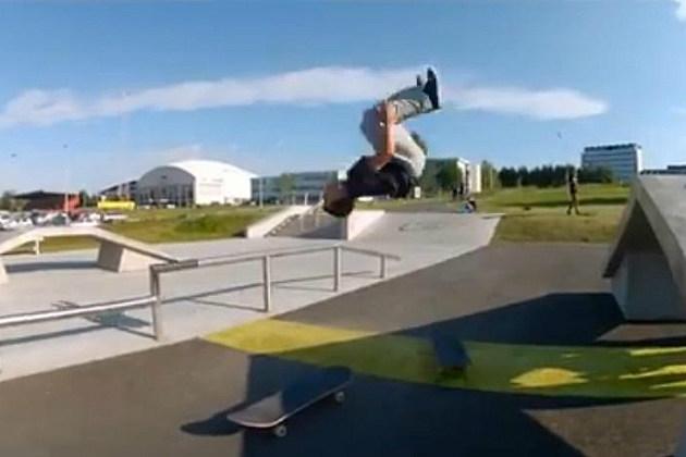 Backflip Skateboarder