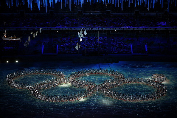 2014 Winter Olympic Games - Closing Ceremony human rings