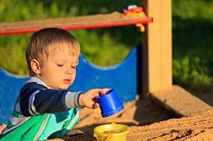 boy in sandbox