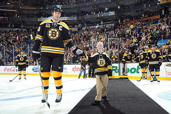 Sam Berns and Zdeno Chara