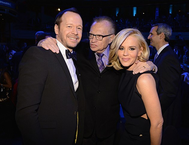 Jenny McCarthy and Donnie Walhberg with Larry King