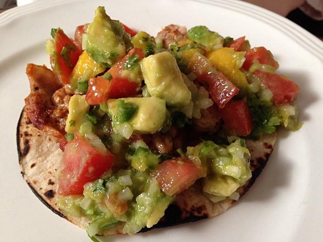 Spicy Chicken Tacos With Mango-Avocado Salsa [RECIPE]