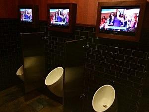urinal TVs