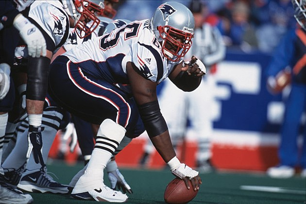 Center Damien Woody #65 of the New England Patriots