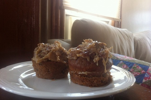 German Chocolate Cupcake With Frosting