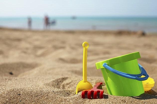 beach pail in the sand