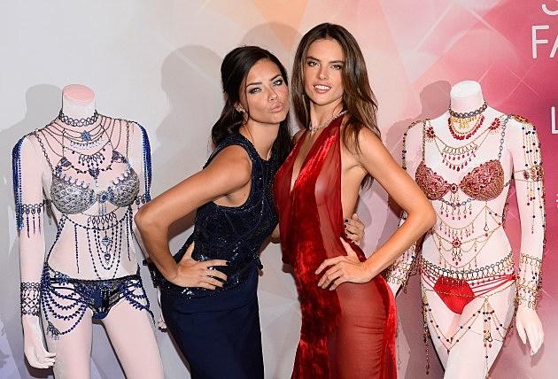 Victoria's Secret Angels Adriana Lima  and Alessandra Ambrosio Debut Dream Angels Fantasy Bra By Mouawad