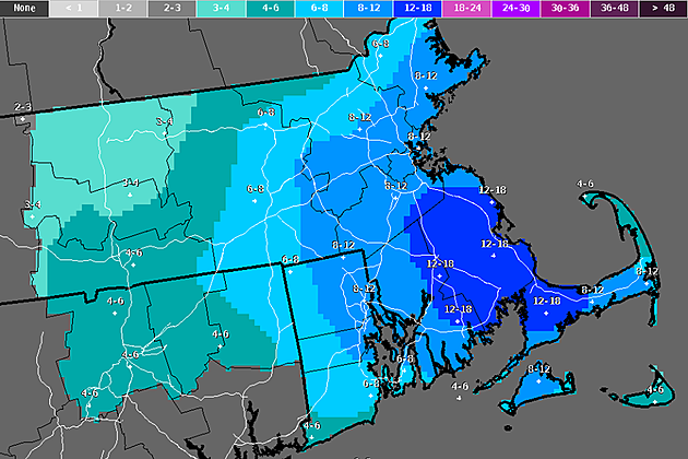 US National Weather Service Boston Is Calling For Snow Wind And - Us weather service map