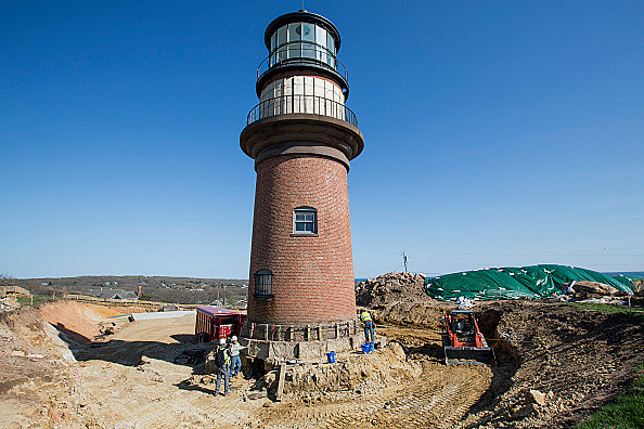He Moves a 460-Ton Lighthouse on Martha's Vineyard: A Day's Work