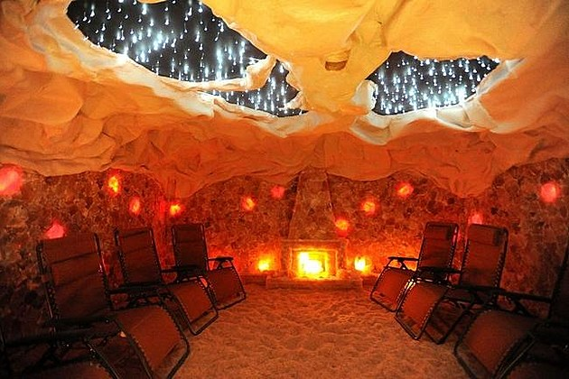 Himalayan salt cave now open at westport salon photos for 4 elements salon