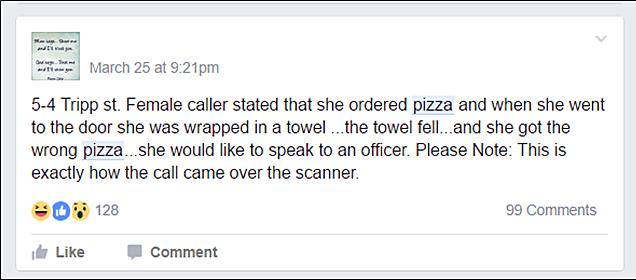 Fall River Scaner Talk Pizza Call